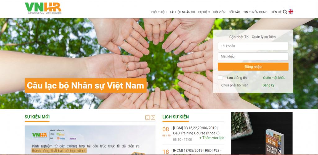 Website CLB Nhân sự Việt Nam